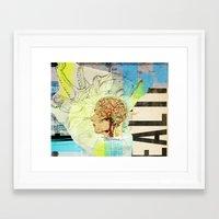 Framed Art Print featuring Aquiring Consciousness by Colin Spence Design