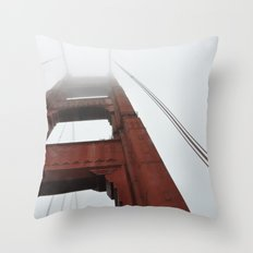 Fog on the Golden Gate Throw Pillow