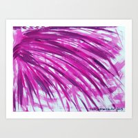 Palm Fronds In Fuchia Art Print