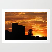 Castle Sunset  - JUSTART © Art Print