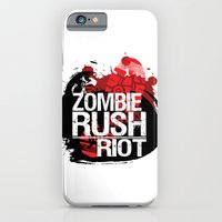 iPhone & iPod Case featuring Zombie Rush: Riot by MindFrost Solutions