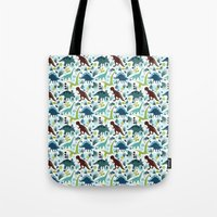 Dinosaur Days (Smaller P… Tote Bag