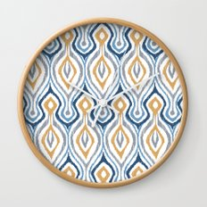 Sketchy Ikat - Saddle Wall Clock