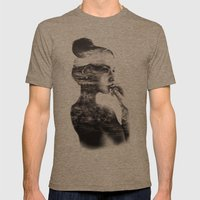 Vagabond // Fashion Illustration Mens Fitted Tee Tri-Coffee SMALL