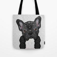 Black Frenchie 001 Tote Bag