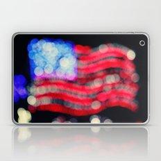 Red, White, and Bokeh Laptop & iPad Skin
