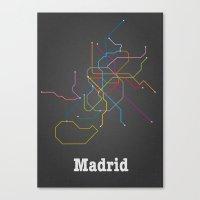 Madrid Subway Canvas Print