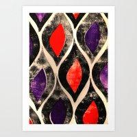 Press print ogee pattern Art Print