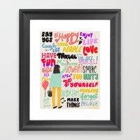 Love... Framed Art Print
