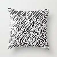 SQUIGGLY WIGGLY Throw Pillow