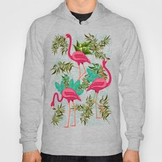Pink Flamingos Exotic Birds Hoody