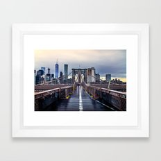 Brooklyn lines Framed Art Print