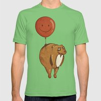 Float On, Bear, Float On Mens Fitted Tee Grass SMALL