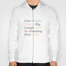 Inspiration Typography Quote Words Pastel  Hoody