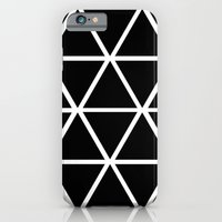 iPhone & iPod Case featuring BLACK & WHITE TRIANGLES 2 by natalie sales