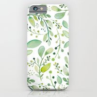 watercolor foliage iPhone 6 Slim Case