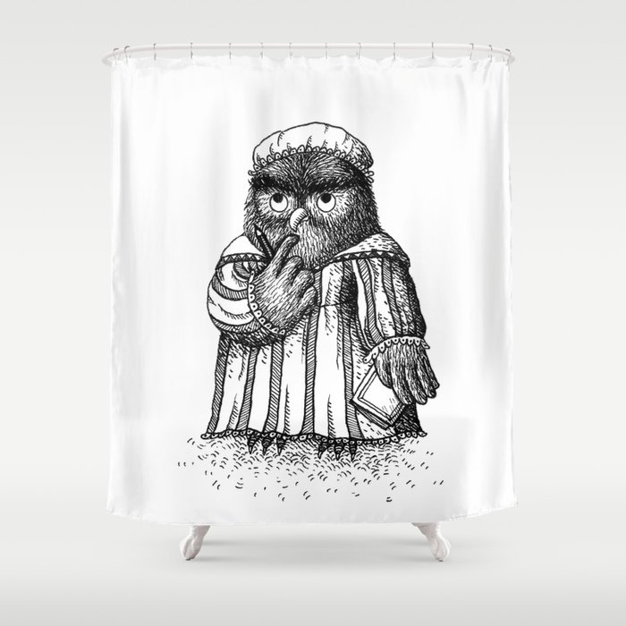 Owl Girl Shower Curtain By Hana Stupica Society6