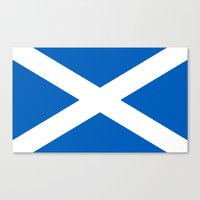 Flag of Scotland - High quality authentic version Canvas Print