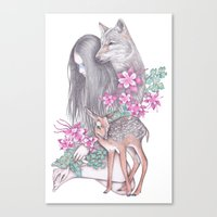 Forest Wanderer Canvas Print