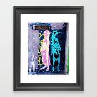 Meerkat Graffiti Framed Art Print