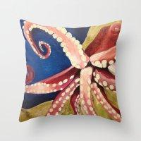 Locomoctopus Throw Pillow