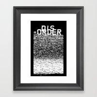 Dis-order (Inverted) Framed Art Print