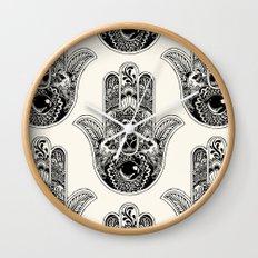 Hamsa Hand Pug Wall Clock