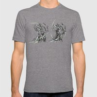head and neck Mens Fitted Tee Tri-Grey SMALL