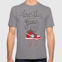 i love this game Mens Fitted Tee Tri-Grey SMALL