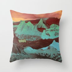 Greetings from a Strange Land Throw Pillow