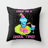 Lookin' For A Ghoul Time… Throw Pillow
