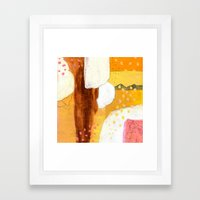 Goldish Framed Art Print