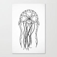 Dreamcatcher Jellyfish - Ink Canvas Print