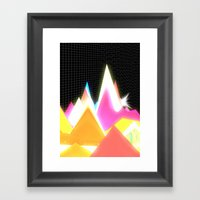 Synthscape Framed Art Print