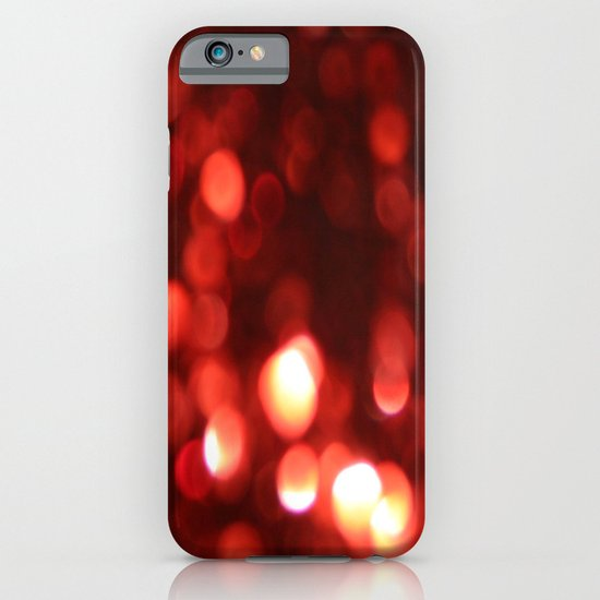 Red Blurred Lights iPhone & iPod Case