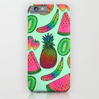iPhone & iPod Case featuring I ♥ Fruits by Luna Portnoi