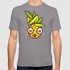 Pineapple Kid Mens Fitted Tee Tri-Grey SMALL