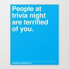Trivia Night Canvas Print