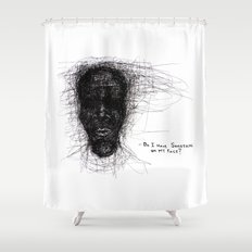 Scribble Face Shower Curtain