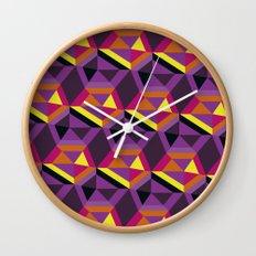 Chasing purple Wall Clock