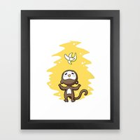Monkey Banana Framed Art Print