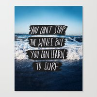 Learn To Surf Canvas Print