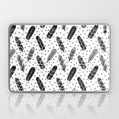 Feathers Black And White… Laptop & iPad Skin
