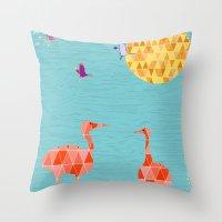 Flamingo Park Throw Pillow