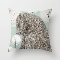 Keeper of the forest Throw Pillow
