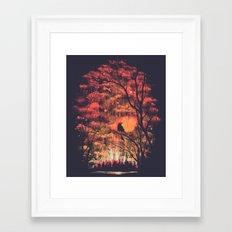 Burning In The Skies Framed Art Print