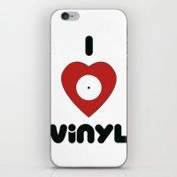 I Heart Vinyl iPhone & iPod Skin