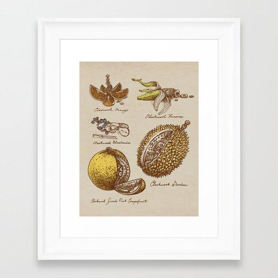 Clockwork Fruit  Framed Art Print