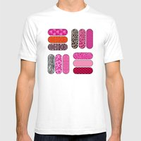 Nail Files Mens Fitted Tee White SMALL