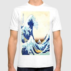 The Great Wave off Kanagawa Mens Fitted Tee White SMALL